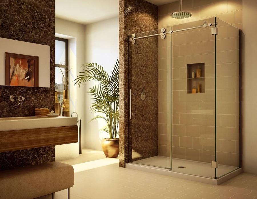 Стеклянные двери в ванную своими руками