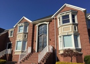 (After) Brick Staining & Stucco Moulding in Marlboro, NJ