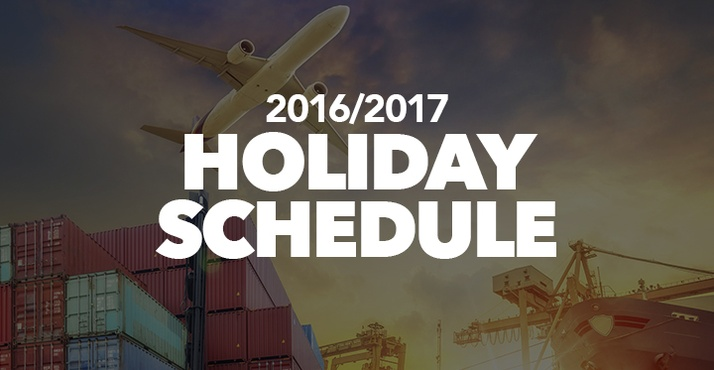Important: Check out our Holiday Schedule!