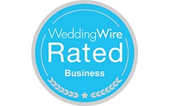We're a WeddingWire Rated Business!
