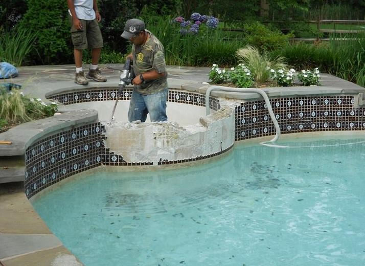 Before - Pool Restoration in Rumson, NJ