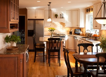 Custom Kitchen Renovation, Candlelight Cabinets, New Jersey