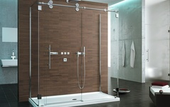 Sliding Frameless Shower Doors: Kinetic Collection