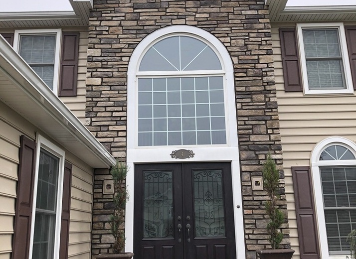 Cultured Stone in Bucks County (Country Ledgestone) AFTER