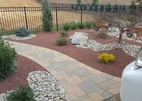 Simple walkway with low maintenance fresh landscape Millstone NJ
