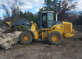 Moss rock boulders for project in Princeton NJ