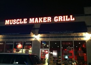 Muscle Maker Grill At Night