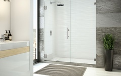 Hinged Frameless Shower Doors: Peerless Collection