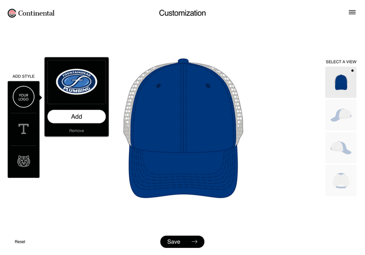 Introducing the Continental Headwear Online Cap Designer