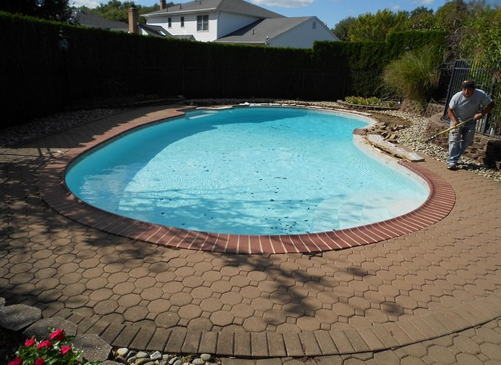 Before - Pool Restoration in Marlboro, NJ