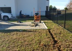 Before new landscape install