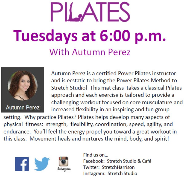 Pilates Now at Stretch Studio!