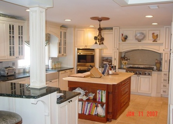 Custom Candlelight Kitchen Cabinets in Lincroft, NJ
