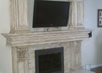 Custom Fireplace in Manalapan, New Jersey