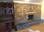 Interior Stonework around Fireplace