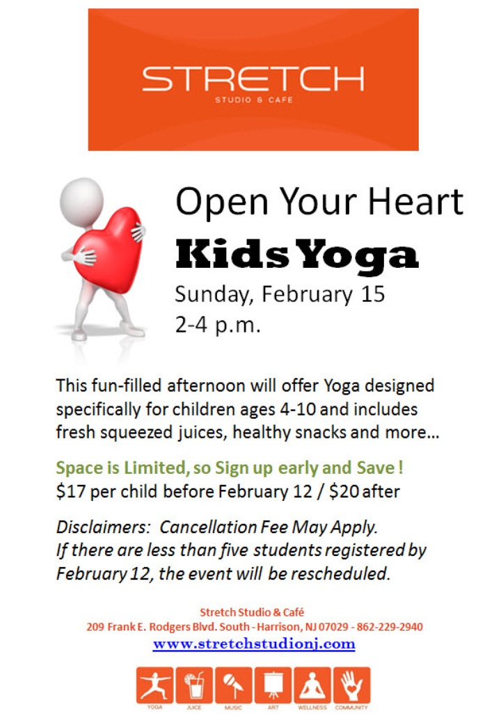 Open Your Heart: Kids Yoga @ Stretch!