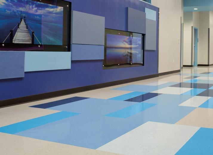 Style: Hudson Blue Tarkett VCT (formerly Azrock)