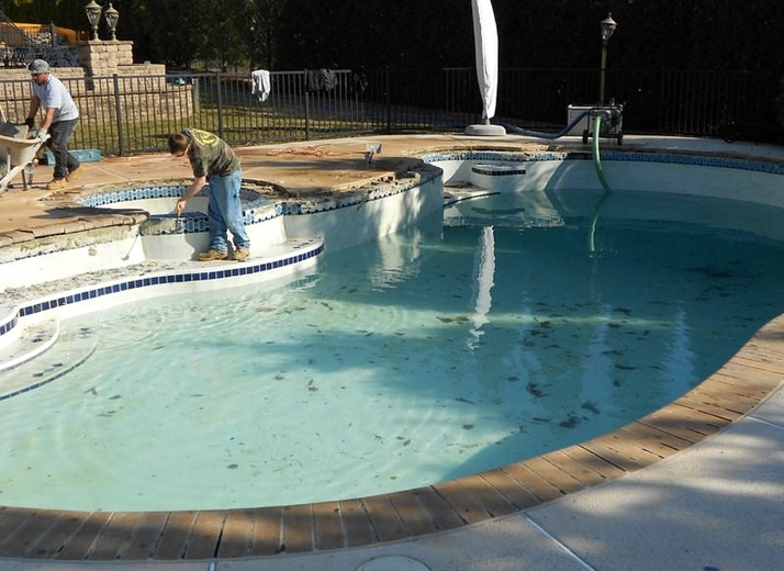 Before - Pool Restoration in Monmouth County, NJ
