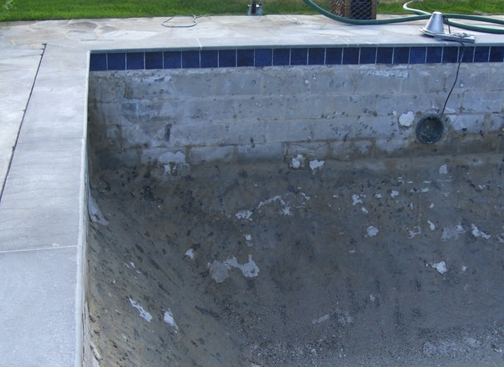 Before - Pool Restoration in Colts Neck, NJ