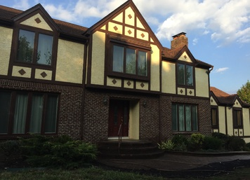 Tudor Stucco in Belle Mead, New Jersey