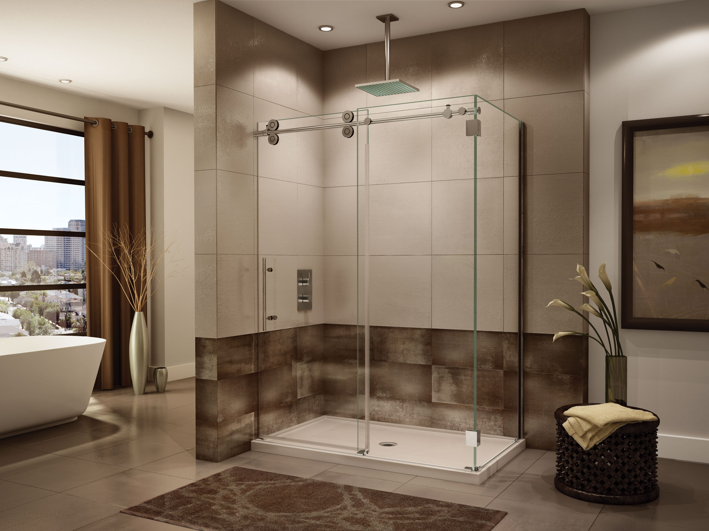 Precision Kinetic Shower Doors NJ, NY, PA (732) 389-8175