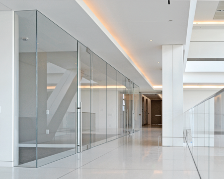Custom frameless glass walls in new jersey office glass Interior glass partition systems