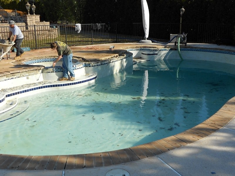 Before & After Pool Restoration in Monmouth County, NJ